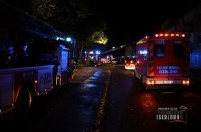 Feuerwehr Iserlohn: FW-MK: Zimmerbrand, Menschenleben in Gefahr
