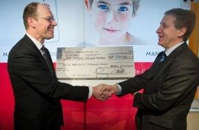 Manor AG: Action caritative Manor Charity - 230'000 francs en faveur de la recherche sur le cancer des enfants et des adolescents