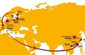 AUTO BILD: AUTO BILD-Reportage: Geklautes Navi reist in 71 Tagen von Hamburg nach China - mit GPS-Peilsender auf den Spuren der Navi-Mafia