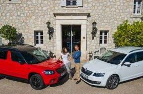 Skoda Auto Deutschland GmbH: Prominente Schauspieler testen SKODA Yeti Monte Carlo und Octavia L&K