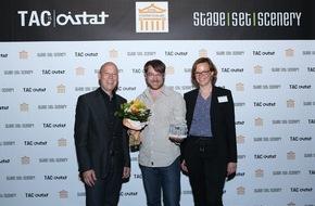 Messe Berlin GmbH: Die Stage|Set|Scenery 2015 rollt den roten Teppich aus: Das sind die Gewinner des TAC-Award und des Weltenbauer Award