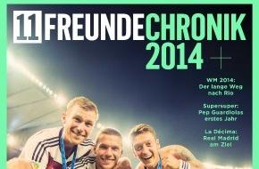 Gruner+Jahr, 11FREUNDE: 11FREUNDE bringt erstmals bildgewaltiges Sonderheft zum Fußballjahr 2014 heraus