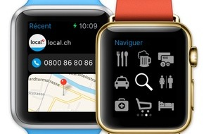 local.ch: L'Apple Watch sera bientôt disponible - et l'app de local.ch est déjà prête!