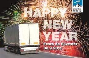 Alpen-Initiative: Das Lastwagenjahr ist um. Wir feiern deshalb Silvester - obwohl es uns nicht ums Feiern ist.