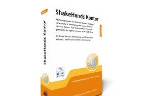 ShakeHands Software Ltd: Neue Buchhaltungssoftware ShakeHands Kontor 2015 für Privat und Haushalt unter Apple OS X und Microsoft Windows