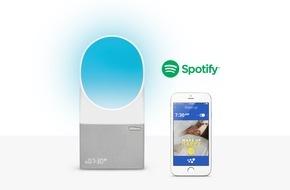 Withings: Aura spielt Spotify / Withings und Spotify schließen sich zusammen - und bieten ein personalisiertes Aufwach-Erlebnis