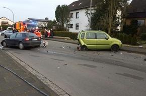 Freiwillige Feuerwehr Lage: FW Lage: Verkehrsunfall zwischen zwei PKW