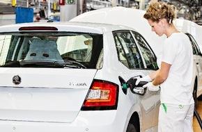 Skoda Auto Deutschland GmbH: Verkaufserfolge: SKODA fährt Produktion für Fabia und Rapid Spaceback hoch
