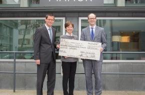 Manor AG: Manor offre du bonheur - 275 000 francs au bénéfice de la Fondation Cerebral