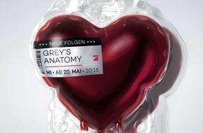 """ProSieben Television GmbH: ProSieben lässt """"Grey's Anatomy"""" an sein Herz(stück): Die Sender-Ikone pulsiert im Takt der neuen Staffel"""