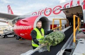 Air Berlin PLC: Kostenloser Weihnachtsbaumtransport bei airberlin (FOTO)