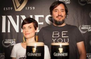 """Diageo Guinness Continental Europe: Arthur Guinness Day: Paint the town black / """"Mrs. Greenbird"""" gibt exklusives Live-Konzert für Guinnessfans"""