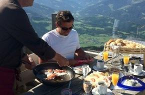 SkiWelt Wilder Kaiser-Brixental Marketing GmbH: Frühstück am Berg - ein Erlebnis für Genießer: Einzigartige Bergpanoramen und Tiroler Produkte
