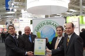 Green Brands: Große Ehre für TECNARO auf der Hannover Messe! - Ihre drei Werkstoff-Gruppen ARBOFORM, ARBOBLEND und ARBOFILL erhielten die internationale Auszeichnung als GREEN BRAND Germany