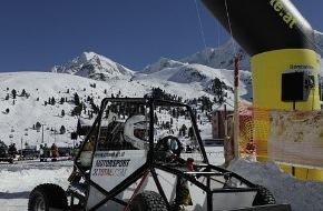 Tourismusbüro Kühtai: RACE-4-KIDS on Snow - Kartrennfieber und eine außergewöhnliche Flugshow im Kühtai