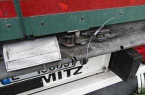 Polizeidirektion Kaiserslautern: POL-PDKL: A63/Göllheim, Sicherungsplombe an Sattelzug durchtrennt
