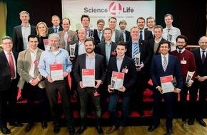 Science4Life e.V.: Hohe Qualität und technologischer Vorsprung: High-Tech Gründer zeigen sich in Bestform / Gewinner der Konzeptphase des Science4Life Venture Cup 2016 prämiert