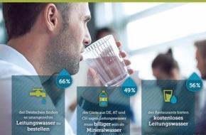 Bookatable GmbH & Co.KG: Leitungswasser im Restaurant: Verpönt oder salonfähig? / Eine Bookatable-Umfrage zeigt: Besonders die Deutschen bestellen ungern Leitungswasser im Restaurant