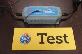 Touring Club Schweiz/Suisse/Svizzero - TCS: Batterie scariche? Test TCS su cavi d'avviamento e apparecchi di ricarica