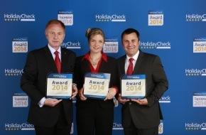 Hapimag AG: Hapimag Resorts mehrfach ausgezeichnet / Bestnoten für Hapimag bei HolidayCheck