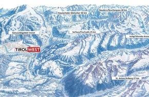 Ferienregion TirolWest: 1.000 Pistenkilometer auf einen Blick