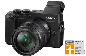 """Panasonic Deutschland: Stiftung Warentest: Bestnote für LUMIX GX8A / Als erste Digitalkamera seit 2004 erreicht die spiegellose Systemkamera von Panasonic das Qualitätsurteil """"sehr gut"""""""