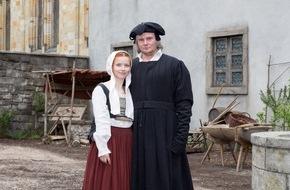 """ARD Das Erste: Das Erste / Drehstart für """"Katharina Luther"""" (AT) mit Karoline Schuch und Devid Striesow in den Hauptrollen"""