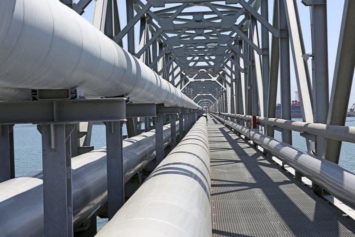 Versorgungssicherheit mit Erdgas auf höchstem Niveau