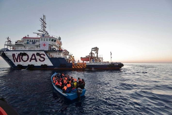 La CRS partecipa al salvataggio dei profughi nel Mediterraneo