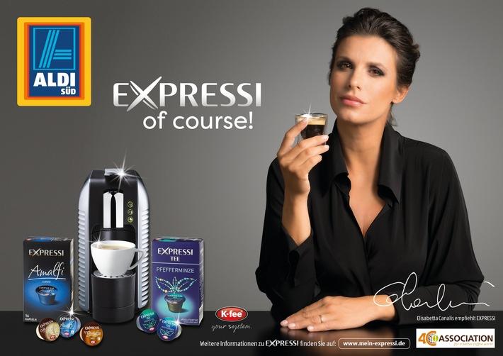 Elisabetta Canalis wirbt für neue EXPRESSI Kampagne