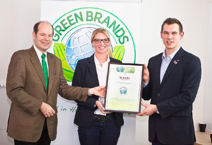 Das Scandic Hamburg Emporio erhält als erstes Stadt-Hotel Deutschlands die Auszeichnung als GREEN BRAND Germany