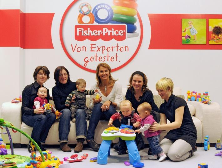 Experten-Tipps für den Spielzeugkauf: Spielzeugtester in Deutschland gesucht! / Zum 80. Jubiläum sucht Fisher-Price mit prominenter Unterstützung von Franziska van Almsick die wahren Spielzeug-Experten