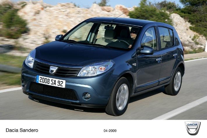 Super-Angebot von Dacia in der Schweiz - Dacia Sandero für 9'900 Franken