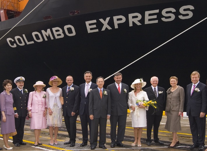 """""""Colombo Express"""" - Grösstes Containerschiff der Welt getauft"""