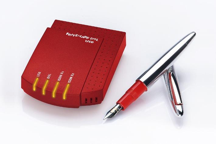 Ab Januar im Handel erhältlich: Neue FRITZ!Card DSL USB: Nur ein Kabel für DSL und ISDN - USB-Variante der FRITZ!Card DSL von AVM