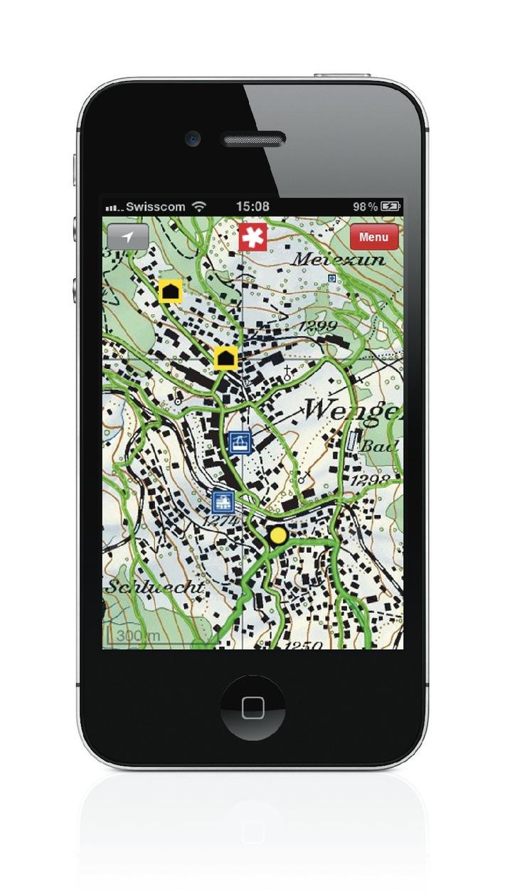 Outdoor mit der App von SchweizMobil (Bild)