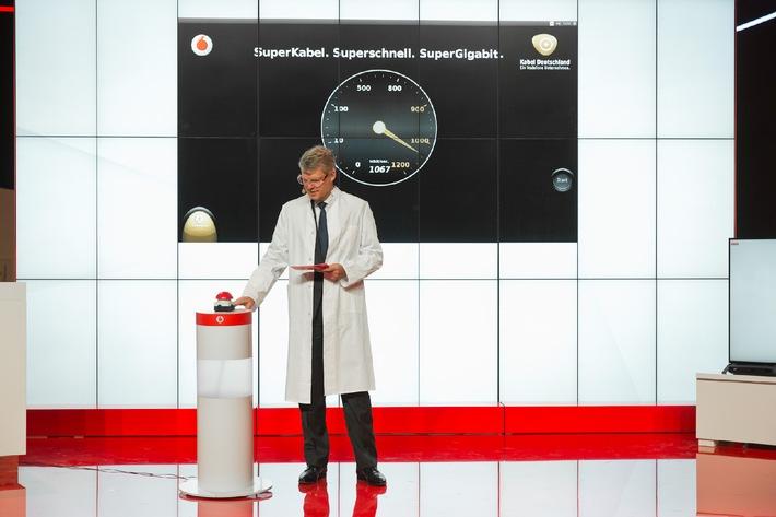 Vodafone zeigt auf der IFA das schnellste Kabelnetz der Republik