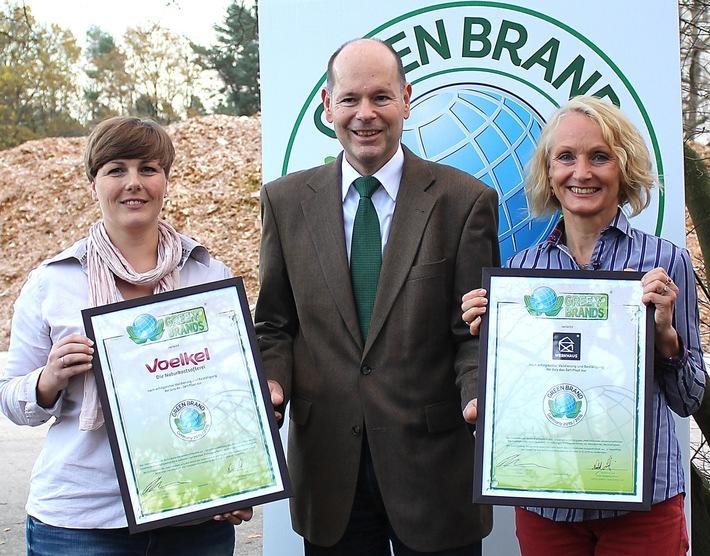Voelkel und Werkhaus zu den GREEN BRANDS Germany ausgezeichnet
