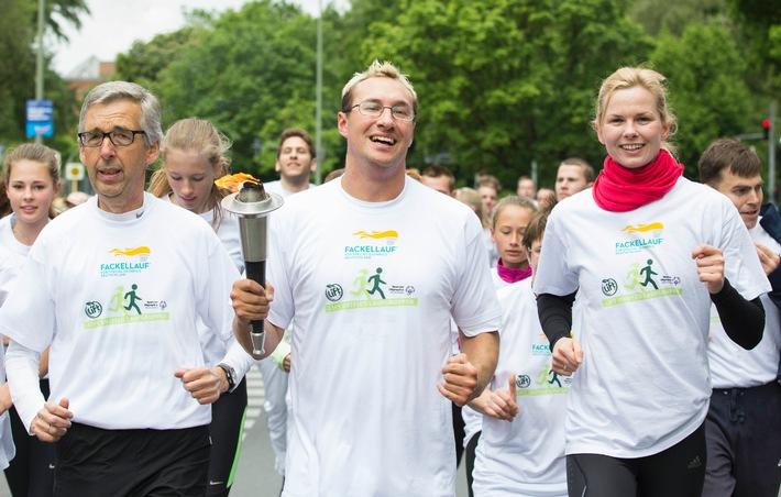 Startschuss mit Lift Unified Laufgruppen zum Special Olympics Fackellauf 2014