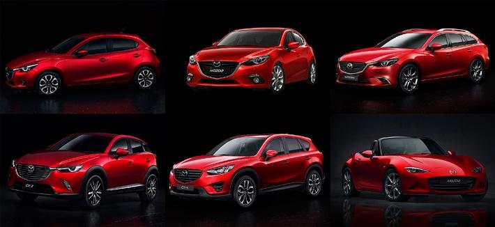 Mazda setzt Farbtrend mit Rubinrot Metallic
