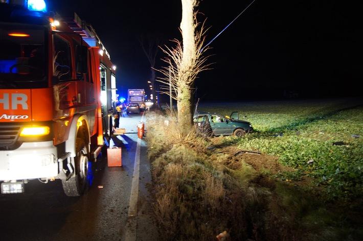 FW Menden: Verkehrsunfall im Berufsverkehr