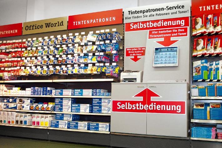 Office World: Premier commerce de détail avec terminal online self-service en suisse