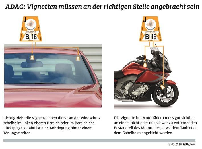 Mautpreller werden mit 120 Euro zur Kasse gebeten / Der ADAC sagt, wo die Österreich-Vignette hingehört