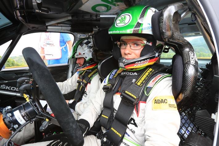 SKODA AUTO Deutschland-Piloten Fabian Kreim/Frank Christian beweisen großes Kämpferherz bei der Rallye Deutschland