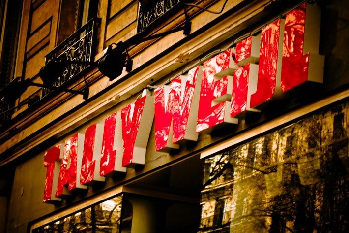 600ster TALLY WEiJL Store an Top-Location in Paris am Boulevard Haussmann
