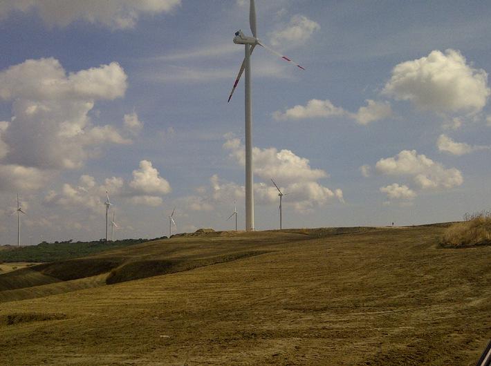 Wind international - Definitiva l'acquisizione del parco eolico di Castellaneta (Italia) da parte di BKW SA