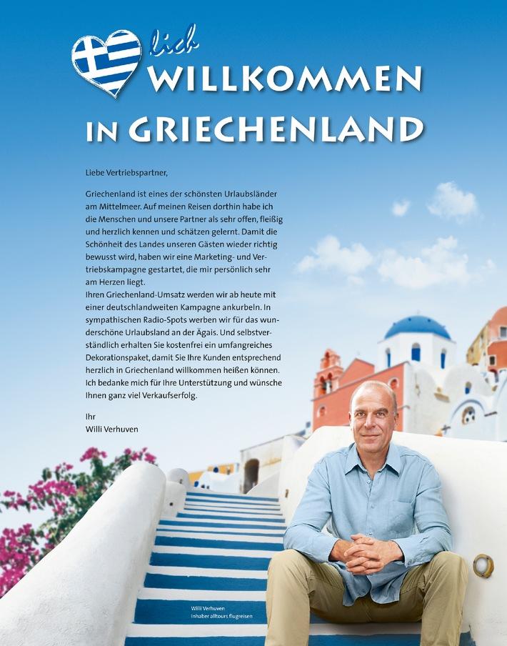 Griechenland-Comeback: Deutsche Urlauber buchen wieder deutlich mehr Reisen an die Ägäis / Nachfrage für Mittelmeerurlaub auf Kreta, Rhodos, Kykladen, Samos, Thassos steigt