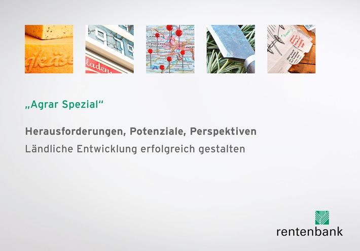 """Ländliche Räume oft stärker als ihr Ruf: Rentenbank veröffentlicht """"Agrar Spezial"""" zur ländlichen Entwicklung in Deutschland"""