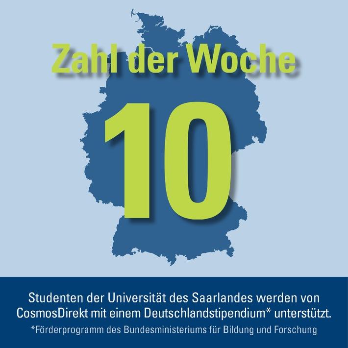 Zahl der Woche: 10 Deutschlandsstipendien vergibt CosmosDirekt