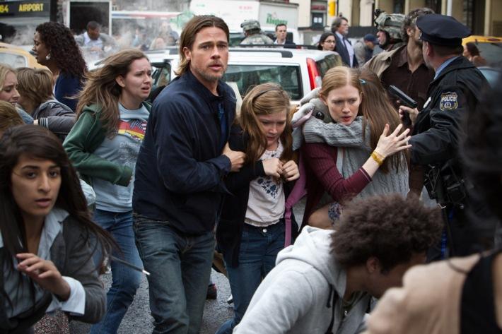 """Extravagante Zombie-Apokalypse: Brad Pitt in """"World War Z"""" auf ProSieben"""